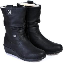 Dámské Boty na klínku Rieker v černé barvě na zimu