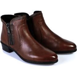 Dámské Zimní boty Rieker v tmavě hnědé barvě ve slevě na zimu