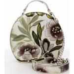 Romantická květovaná dámská koženková kabelka Rozálie, béžová