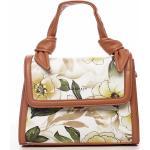 Romantická květovaná koženková dámská kabelka Diana, peach
