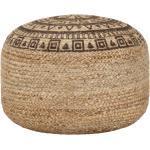 Ručně vyrobený sedací puf Balea - juta - hnědý | 45x30 cm