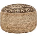 Ručně vyrobený sedací puf Balea - juta - hnědý   45x30 cm