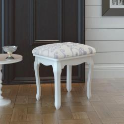 Stolička k toaletnímu stolku   bílá
