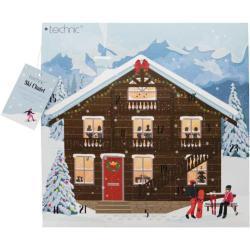 TECHNIC Kosmetický adventní kalendář plný kosmetiky zimní Make-up Ski Chalet Cosmetic Advent Calendar