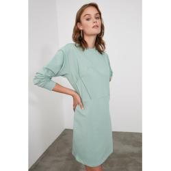 Trendyol Mint Corset Looking Knitted Sweat Dress