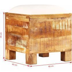 Úložná lavice hnědá / krémová Dekorhome 40 cm