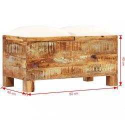 Úložná lavice hnědá / krémová Dekorhome 80 cm