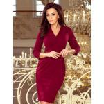 Večerní dámské pouzdrové šaty KELLY 237-2 bordo