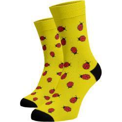 Dámské Ponožky v žluté barvě v moderním stylu ve slevě