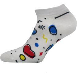 Veselé ponožky Funny kotník Bílá Kotníkové ponožky 42-44