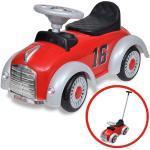 vidaXL Červené retro dětské odrážedlo auto s vodicí tyčí