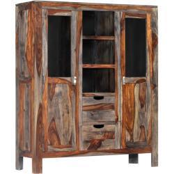 vidaXL Komoda šedá 118 x 40 x 140 cm masivní sheeshamové dřevo