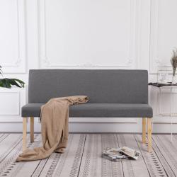 vidaXL Lavice 139,5 cm světle šedá polyester