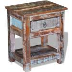 vidaXL Odkládací stolek zásuvka masivní recyklované dřevo 43x33x51 cm