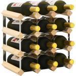 vidaXL Stojan na víno na 12 lahví masivní borové dřevo