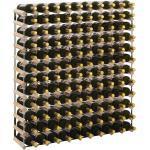 vidaXL Stojan na víno na 120 lahví masivní borové dřevo
