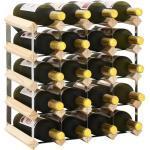vidaXL Stojan na víno na 20 lahví masivní borové dřevo