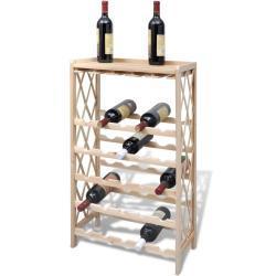 vidaXL Stojan na víno na 25 lahví masivní jedlové dřevo