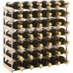 vidaXL Stojan na víno na 42 lahví masivní borové dřevo