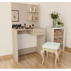 vidaXL Toaletní stolek dřevotříska 75x40x141 cm dub