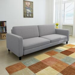 vidaXL Trojmístná sedačka světle šedá textilní