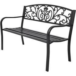 vidaXL Zahradní lavice 127 cm litý hliník černá