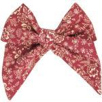 Vínová dámská kravata s květy