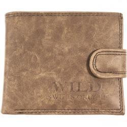 Wild Peněženka s knoflíkem Barva: Hnědá