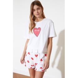Dámská  Pyžama Trendyol  vícebarevná  s krátkým rukávem ve slevě