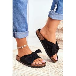 Women's Black Flip-flops Bows Wendy