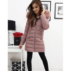 Women's quilted jacket AMELIA pink TY1037