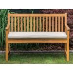 Zahradní lavice 120 cm s polštářem béžovým VIVARA