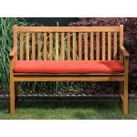 Zahradní lavice 120 cm s polštářem červeným VIVARA