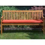Zahradní lavice 160 cm s polštářem červeným VIVARA