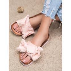 Zajímavé nazouváky dámské růžové bez podpatku 39