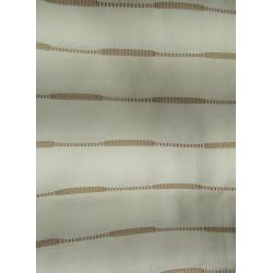 Závěs se závěsnými kroužky, cca 145/135 cm – béžová/šedobílá LENOKO