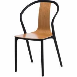 Židle BELLA černohnědá