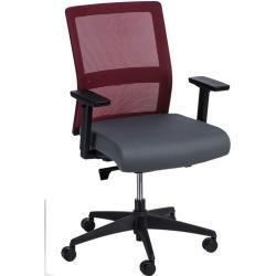 židle kancelářská Press červeno-šedá