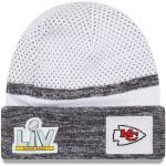 Zimní čepice New Era Kansas City Chiefs White Super Bowl LV Bound Sideline Cuffed Knit Hat