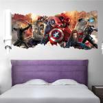 Živá Zeď Samolepka tým Avengers